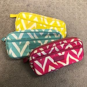 Set of 3 Small cases - makeup bag or pencil case